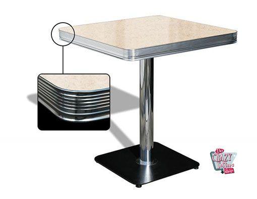 mesa americano Retro Diner 70 Creme