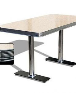 Table American Retro Diner 150 Cream