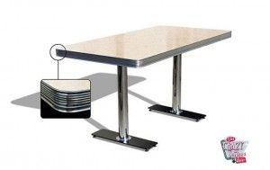 mesa americano Retro Diner 150 Creme