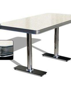 American Retro Diner table 150 White