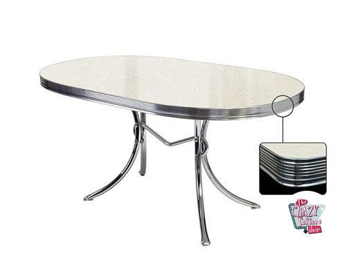 Amazing Weiß Retro Diner Tisch TO26 Great Pictures