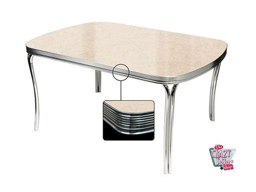 Retro Diner table Cream TO27
