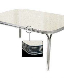 White Retro Diner table TO27