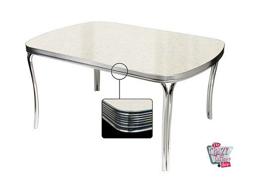 Hvid Retro Diner table TO27