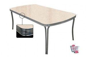 Mesa de jantar 205x106 creme retro TO28
