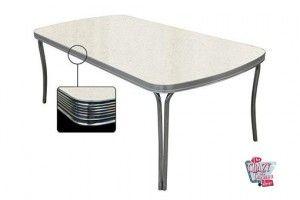 mesa de jantar retro 205x106 Branco to28