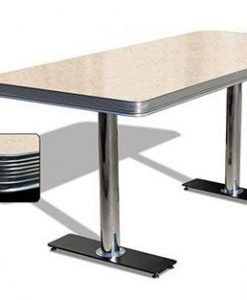 Table American Retro Diner 180 Cream