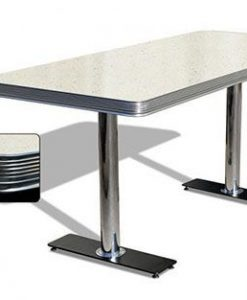 tavolo americano Retro Diner 180 Bianco