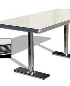 American Retro Diner table 180 White