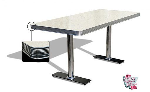 American Retro Diner tabellen 180 Hvit