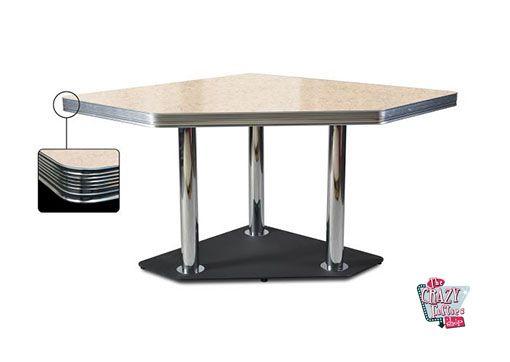 Mesa de jantar creme retro Canto