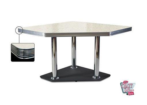 Bianco Retro Diner tavolo d'angolo