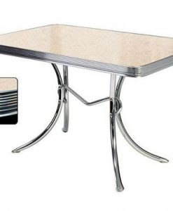 Retro Diner table TO36 Cream