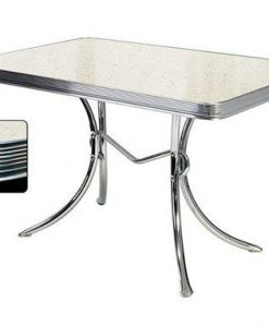 White Retro Diner table TO36
