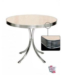 Table ronde Retro Diner 80 Cream