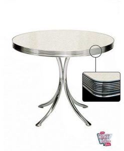 Table ronde Retro Diner 80 Blanc