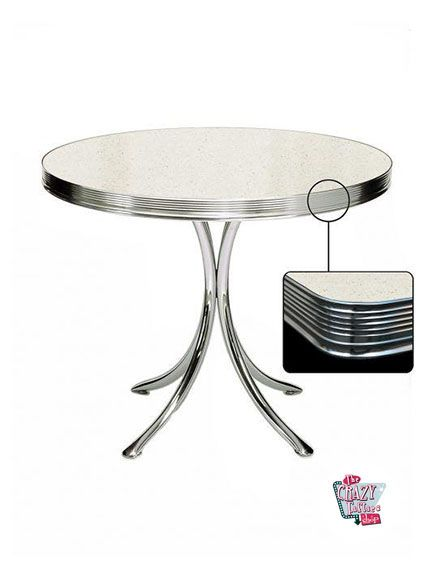 Round Table Retro Diner 80 White