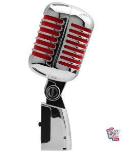 Retro microphone chromé