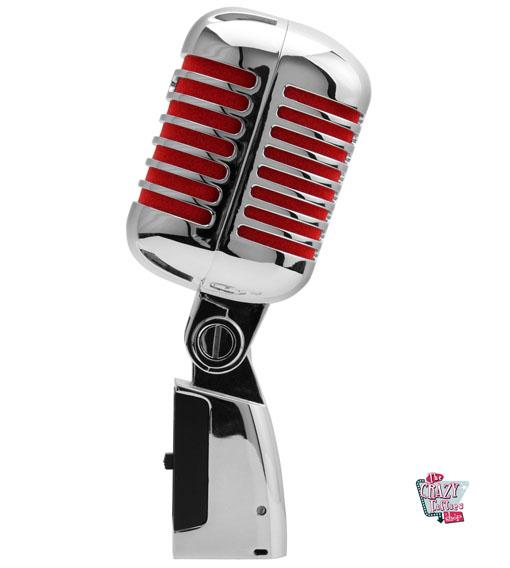 Retro microfono cromo