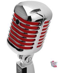 Retro krom mikrofon
