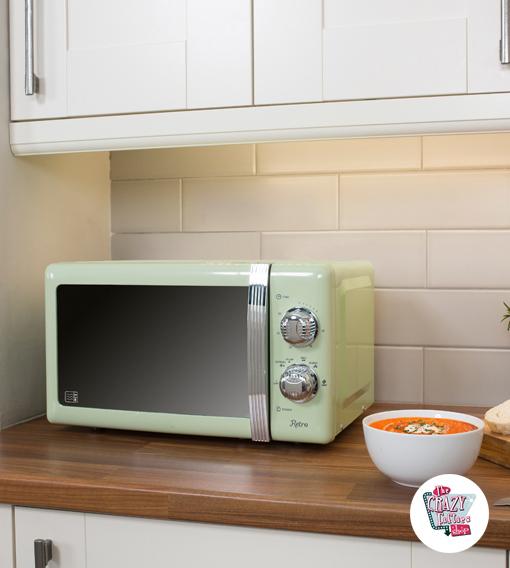 acheter r tro micro ondes manuel 800w par 139. Black Bedroom Furniture Sets. Home Design Ideas