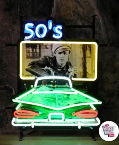 "Neon Retro 50s Drive In ""Wild One"""