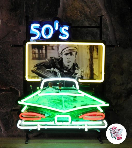 """Neon Retro 50's Drive In """"Wild One"""""""