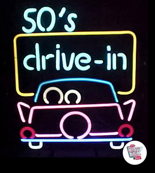Retro Neon 50s Drive In