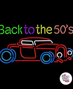 Neon Retro Back To The 50s voiture