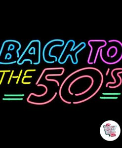 Retro Neon Back To The Fifties