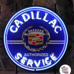 Neon Retro Cadillac Service