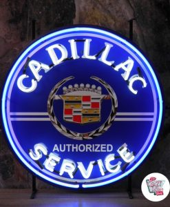 Retro Neon Sign Cadillac Service