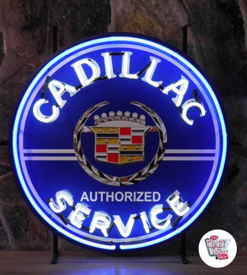 Neon Cadillac serviceaffisch