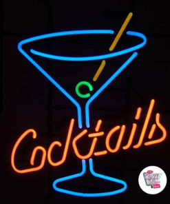 Neon Cocktails With Glass