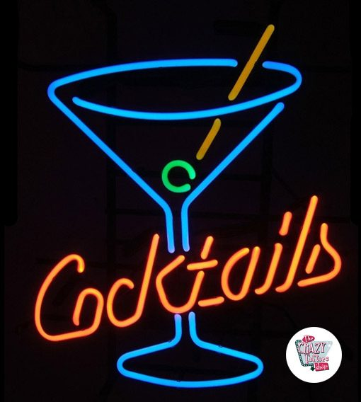 Neon Retro Cocktails With Glass