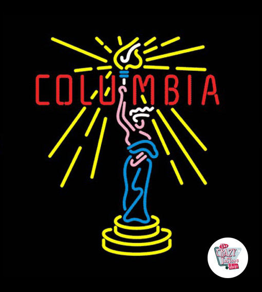 Retro Neon Sign Columbia