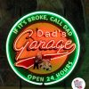 Neon Retro Dad's Garage