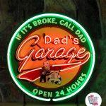 Neon Retro Dad's Garage