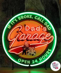 Affiche du garage de papa néon