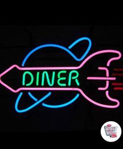Neon Diner Retro Rocket