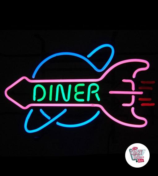 Neon Diner Rocket retro