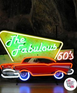 Retro Neon Sign Fabulous Fifties