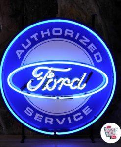 Neon retro Ford Service