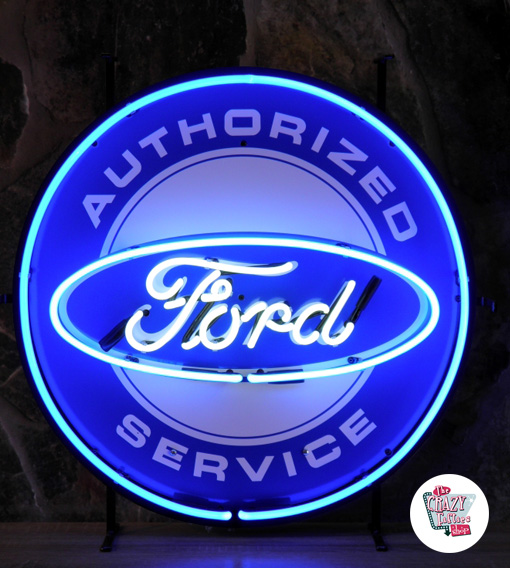 Neon Ford Service-plakat