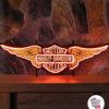 Neon Harley Davidson-plakat