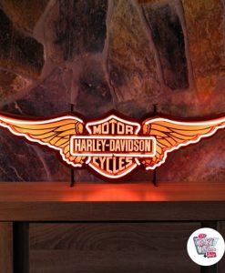 Harley Davidson au néon rétro