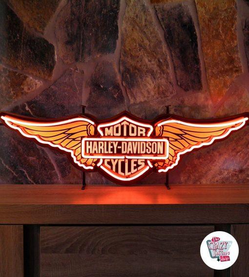 Neon Retro Harley Davidson