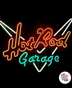 Retro Neon Sign Hot Rod Garage