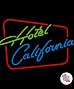 Neon Hotel California Sign