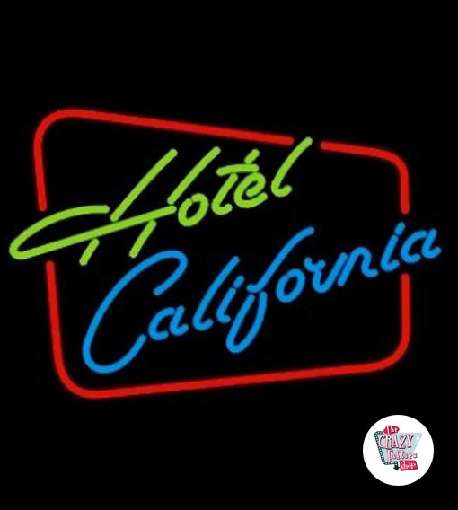 Retro Neon Hotel California